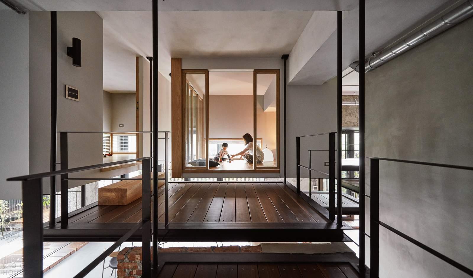 Семейный дом с многоярусным пространством, Тайвань