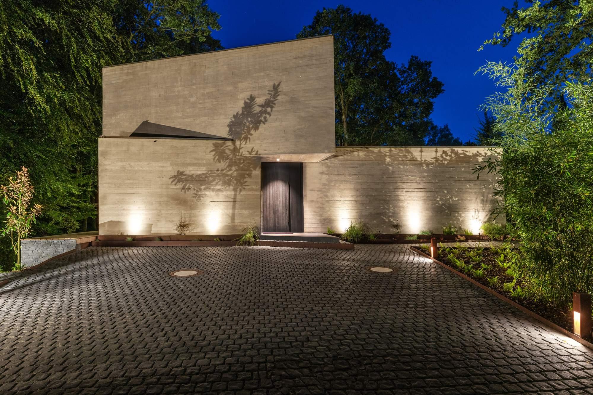 Скульптурная вилла из бетона, Германия