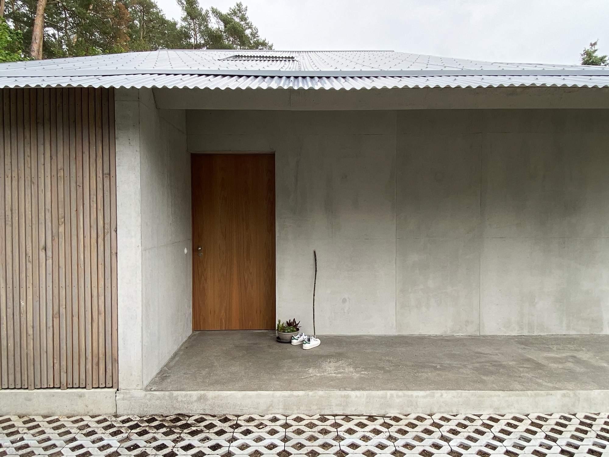 Современное бунгало из монолитного бетона, Германия