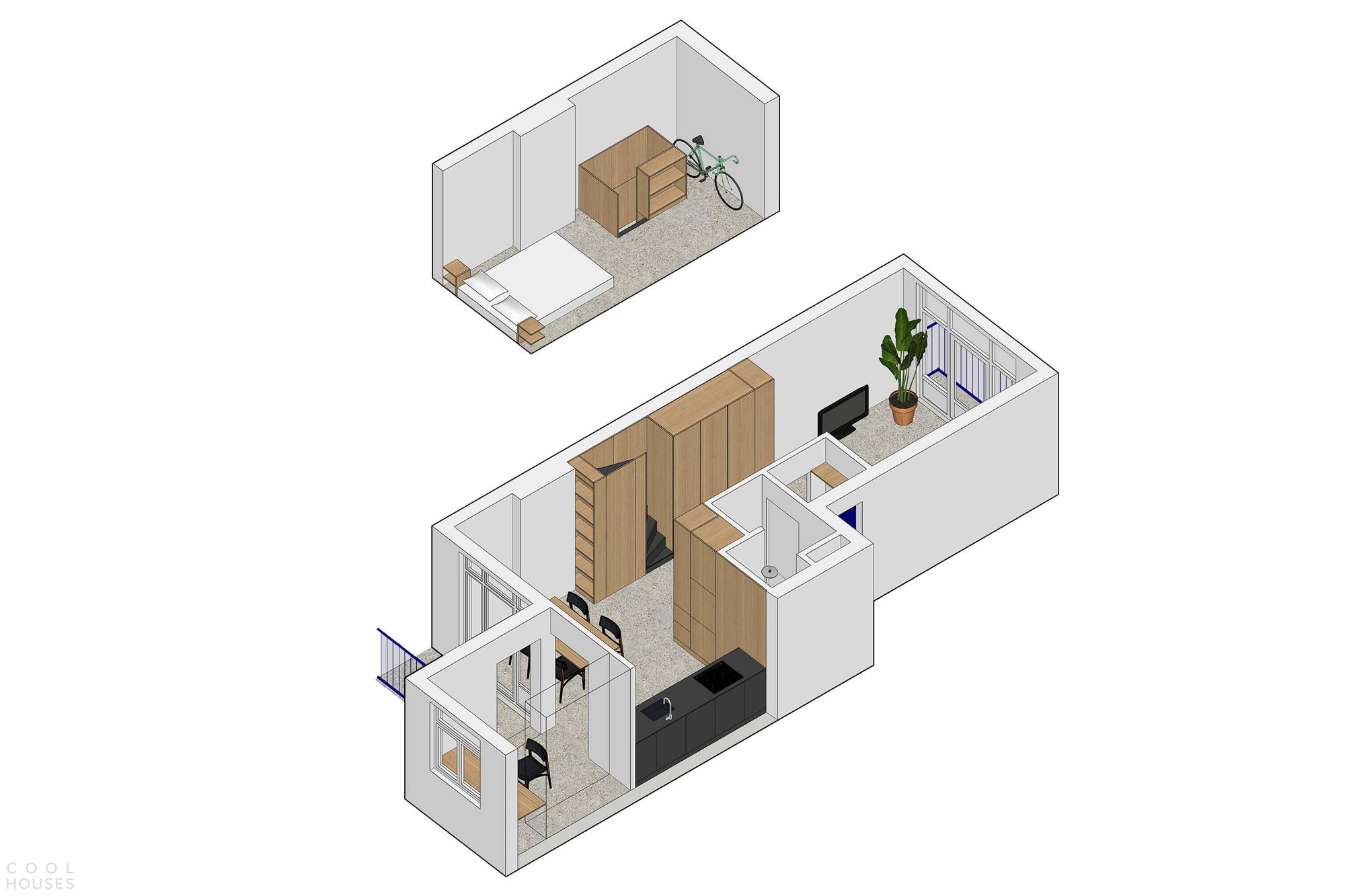 «Крошечный лофт» с эффективной планировкой