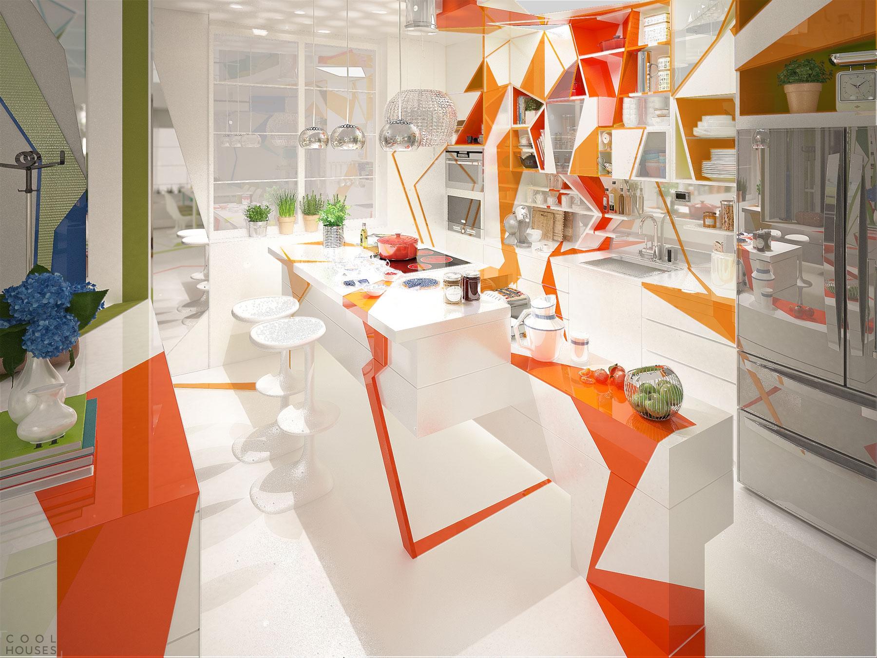 Современная квартира с ярким позитивным интерьером