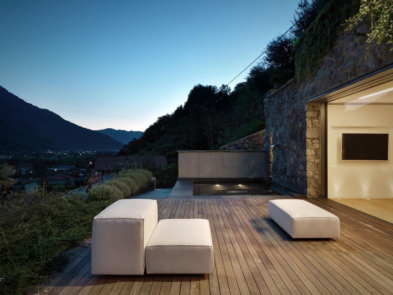 Современный частный дом в Траона, Италия