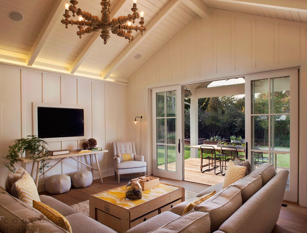 Современный уютный интерьер в доме в Сан-Франциско