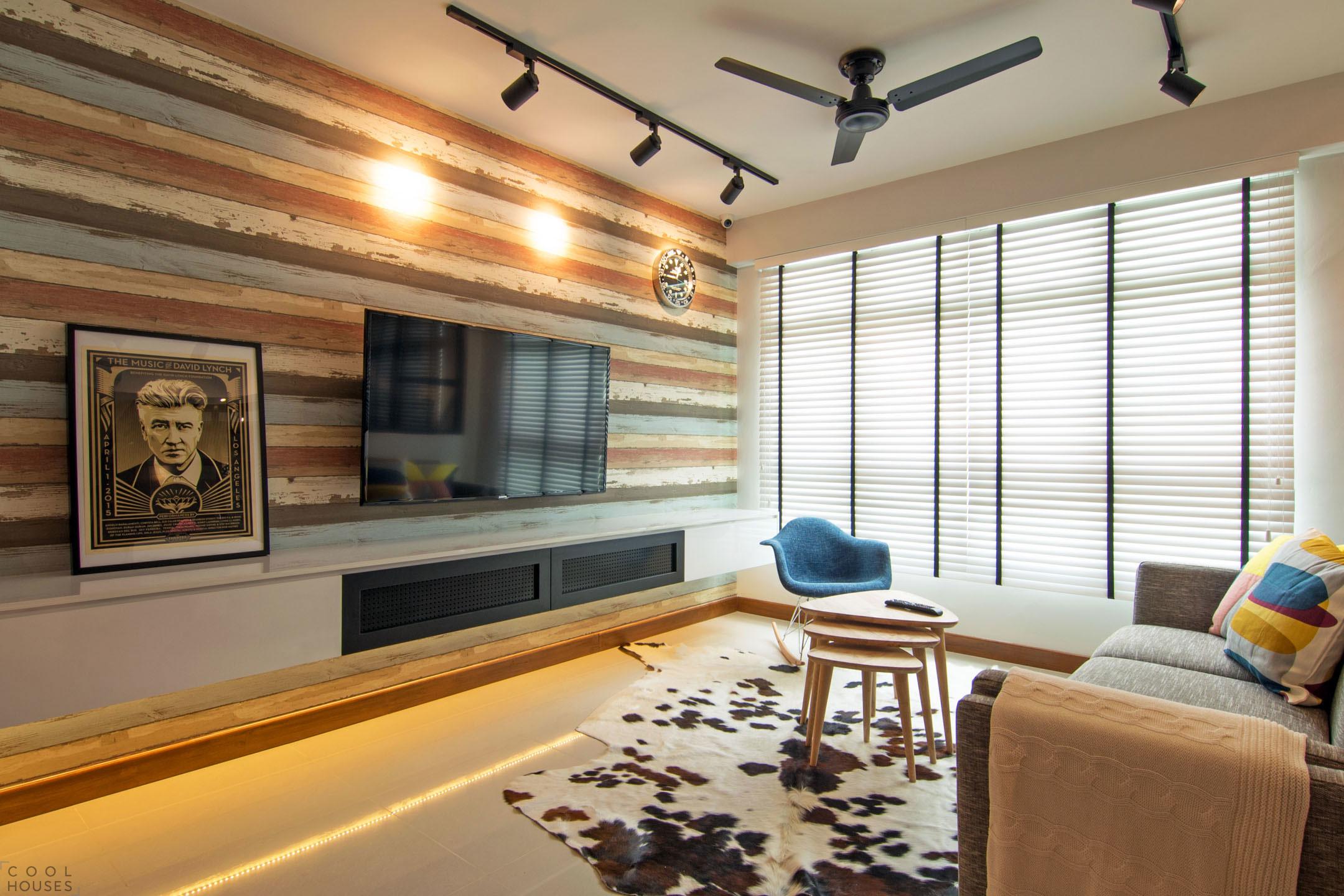 Элегантная квартира с элементами промышленного стиля в Сингапуре