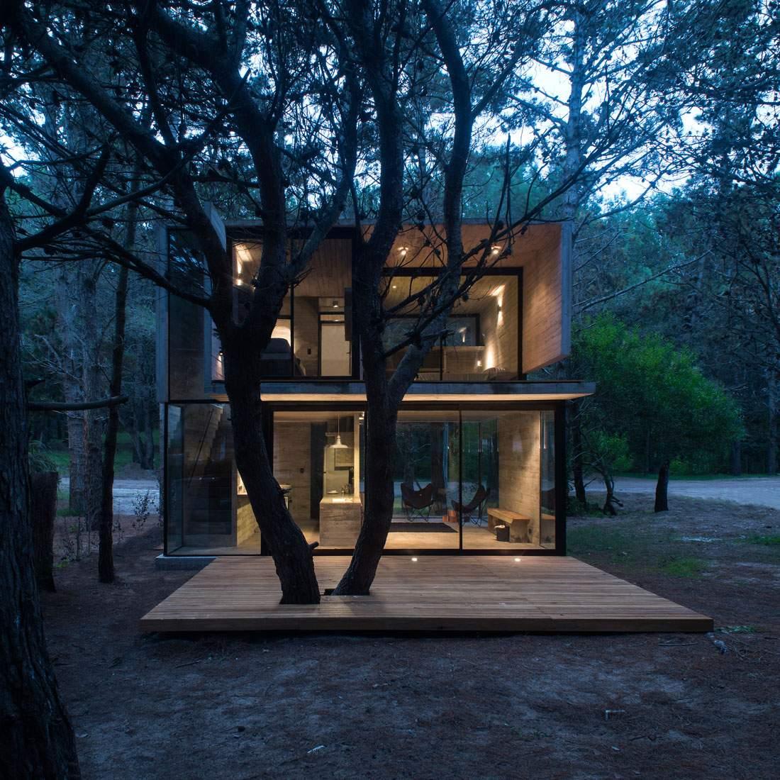 Дачный дом из бетона в Аргентине
