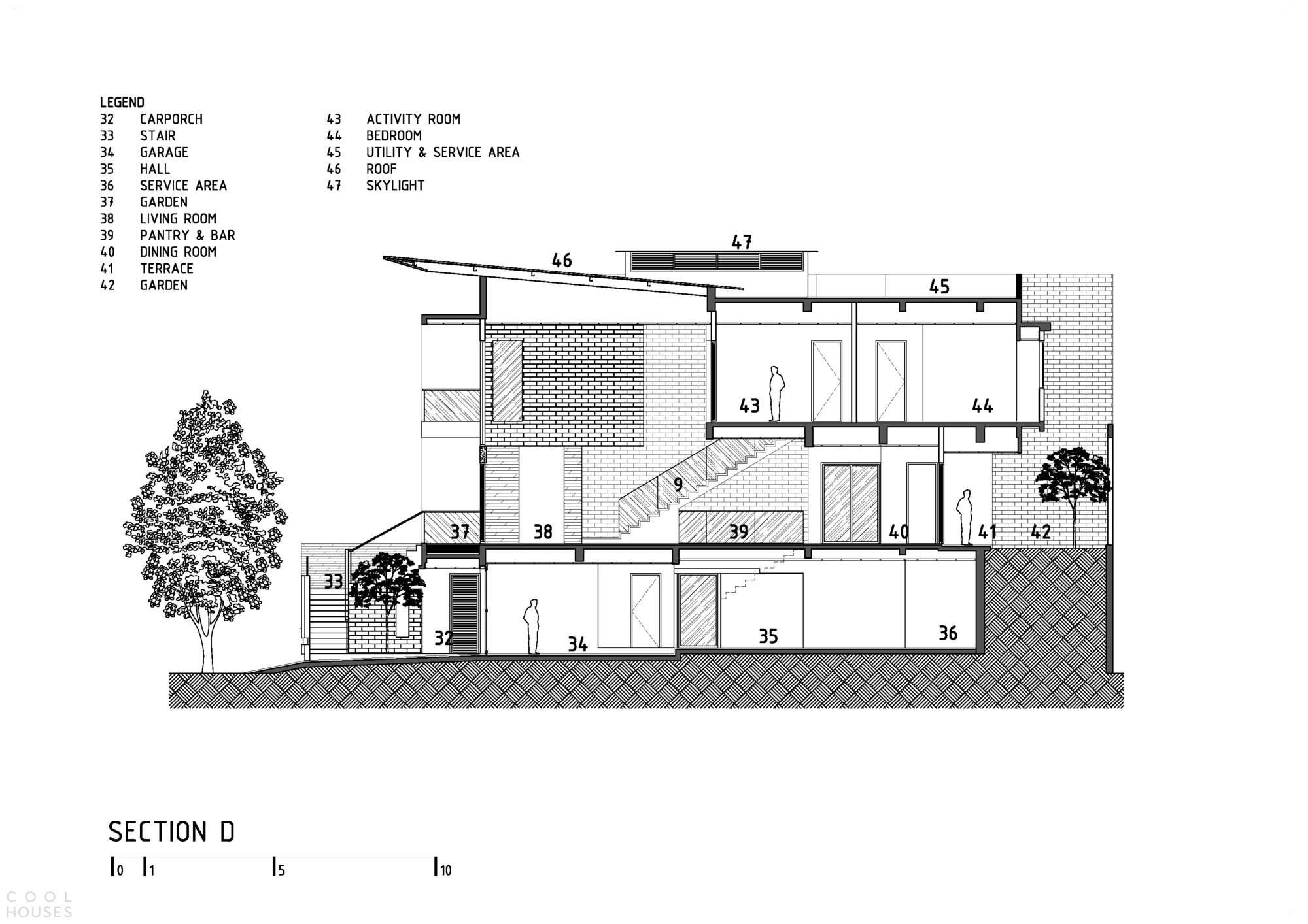Дом с взаимосвязанными пространствами в Индонезии