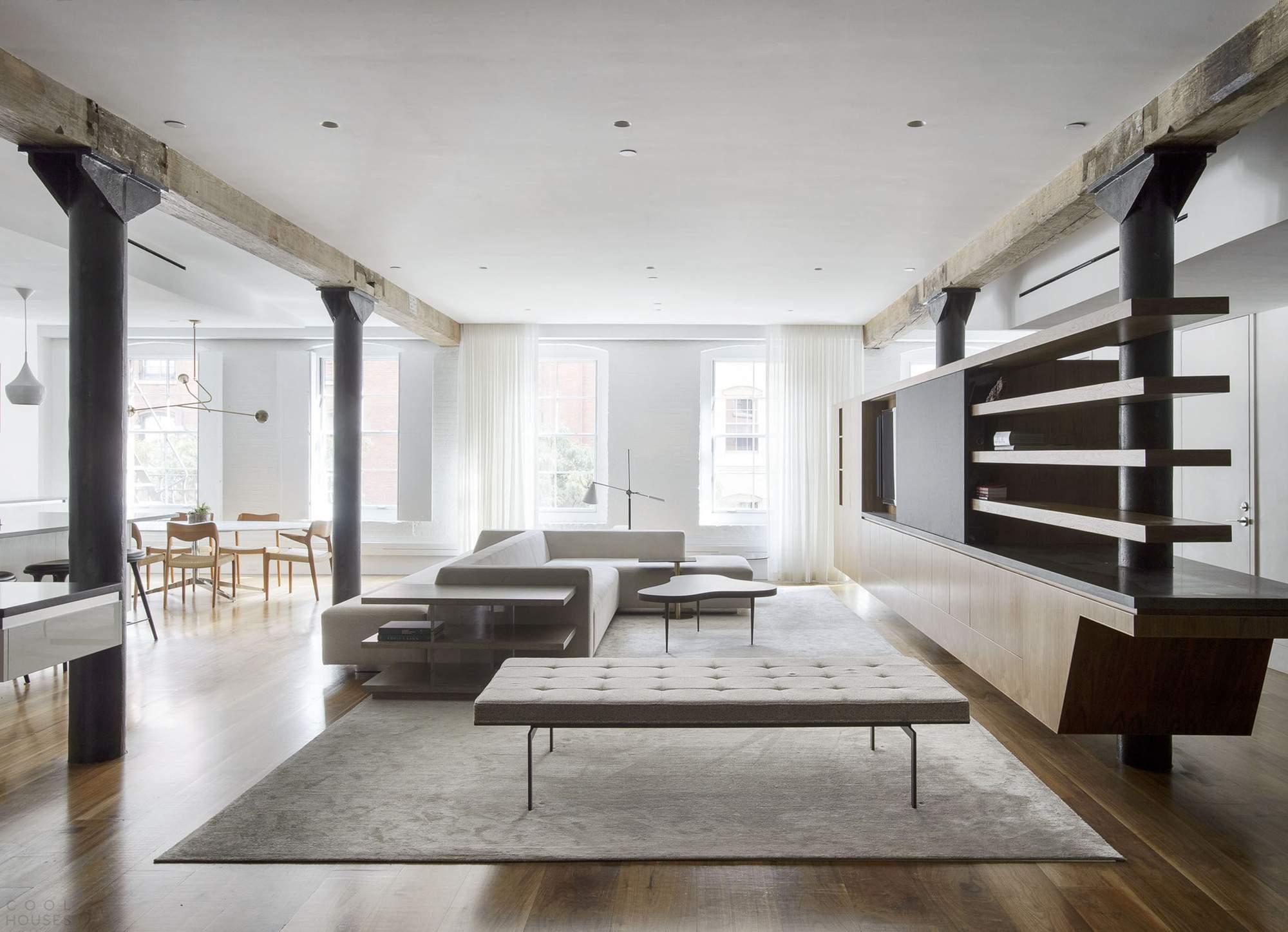Лофт для молодой семьи в Нью-Йорке, США