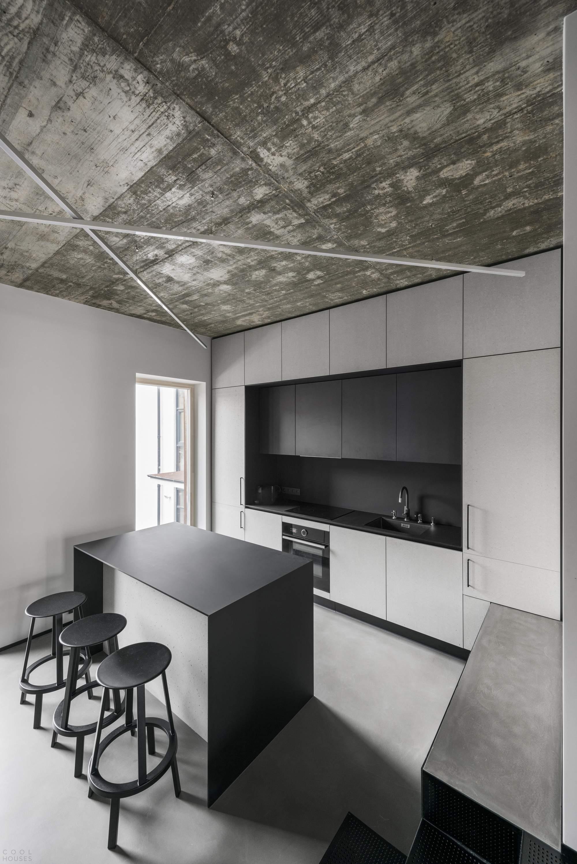 Монохромные апартаменты в Каунасе, Литва