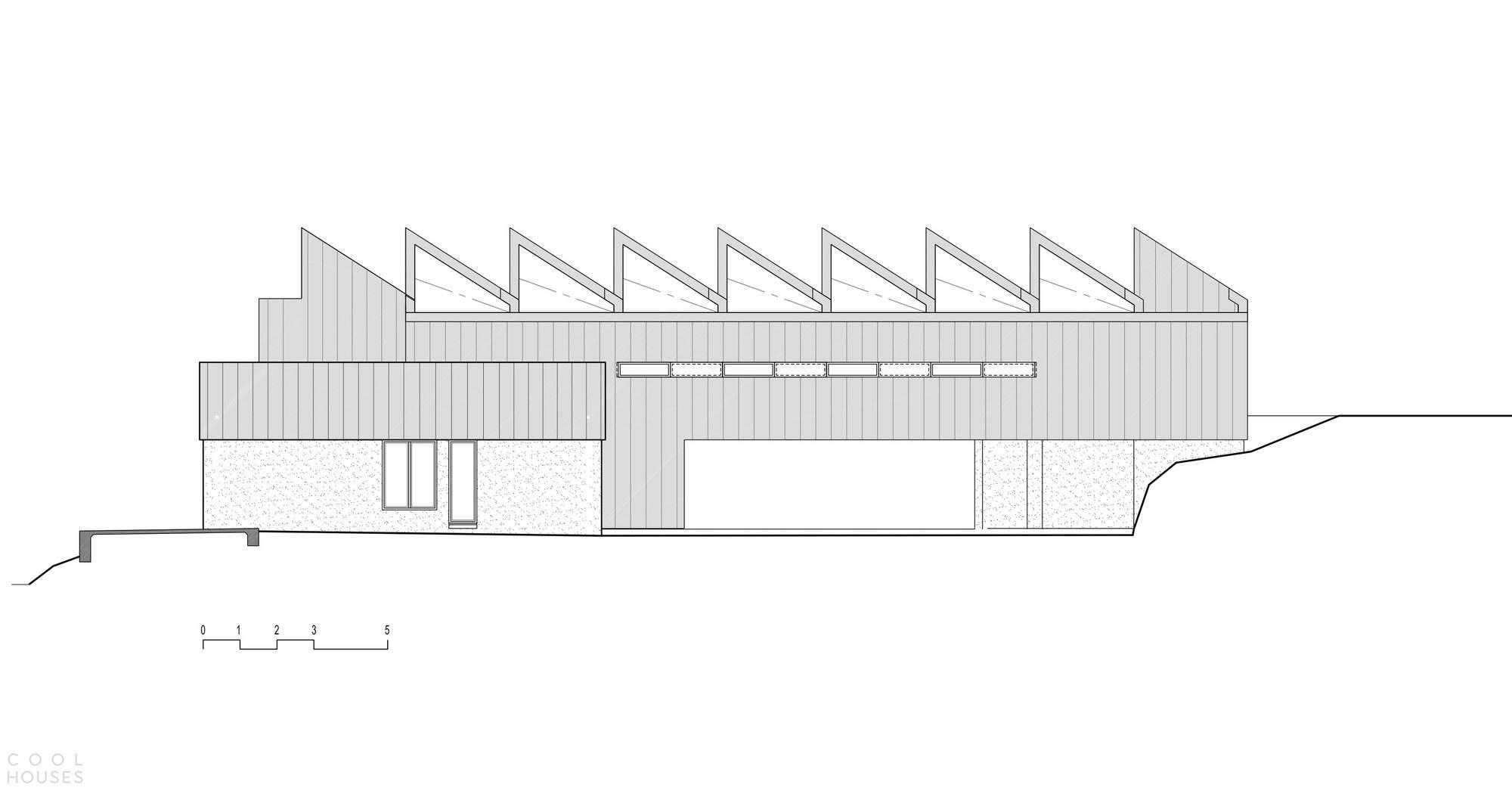 Семейный дом с ритмичной зубчатой крышей, Австралия