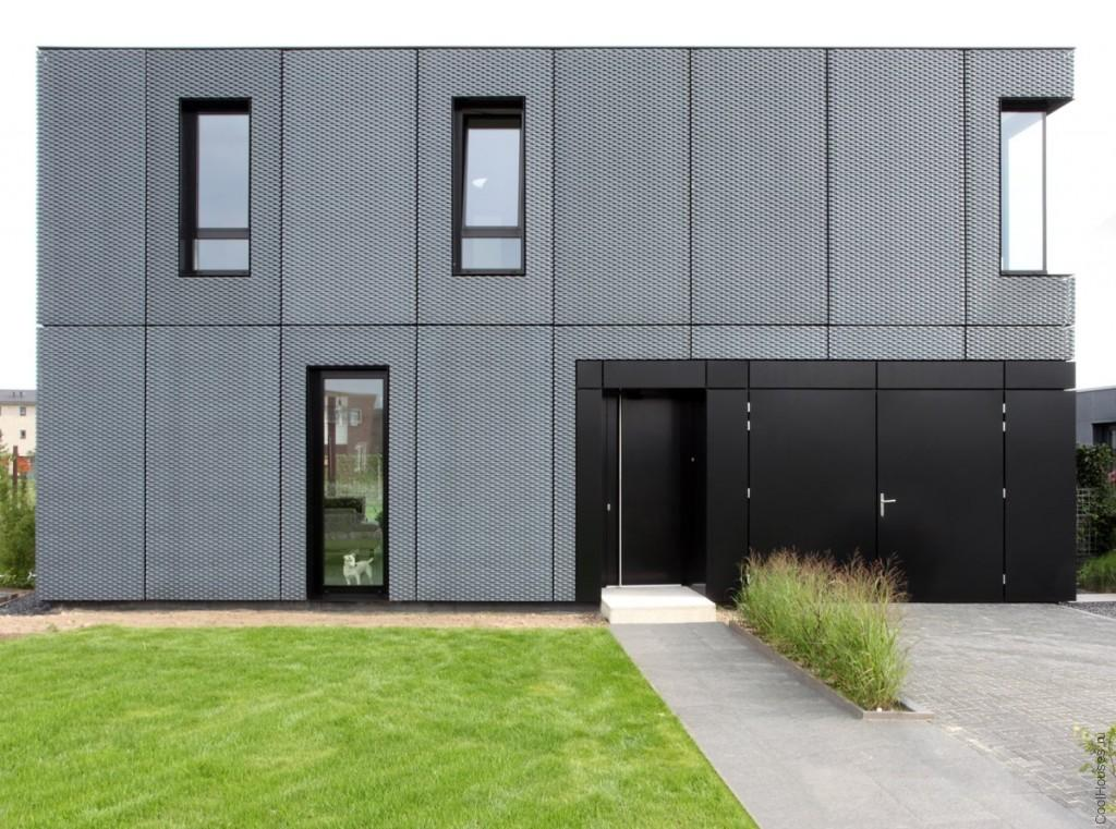 Монолитный дом в стиле модерн