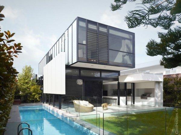 Зеленый стеклянный дом