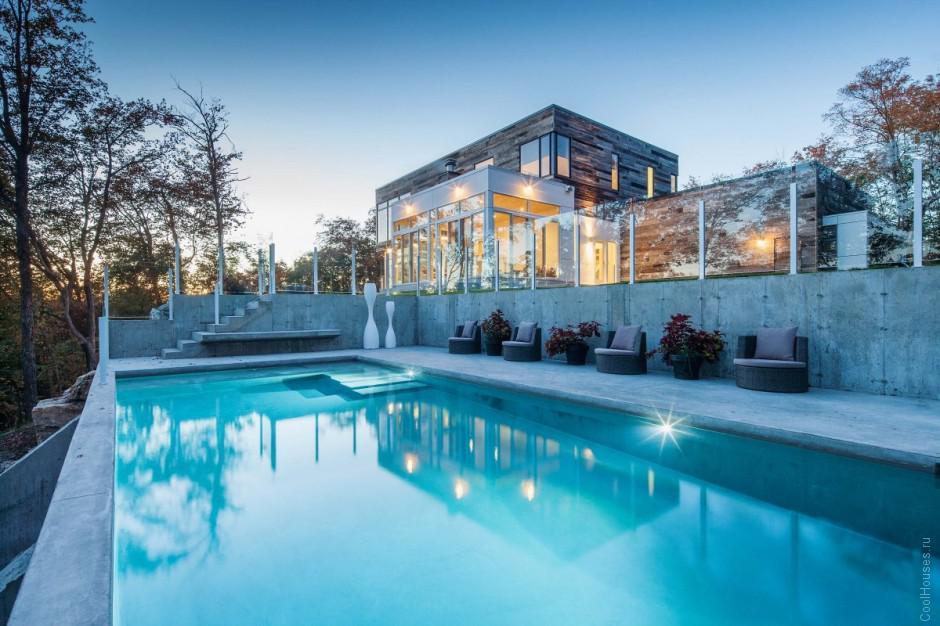 Удивительно красивый дом из бруса в Канаде