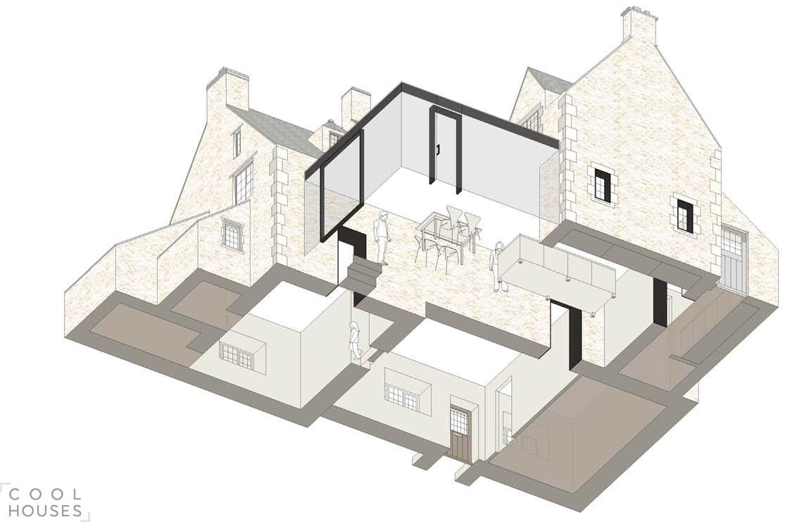 Реконструкция старинного частного коттеджа в Оксфорде, Англия