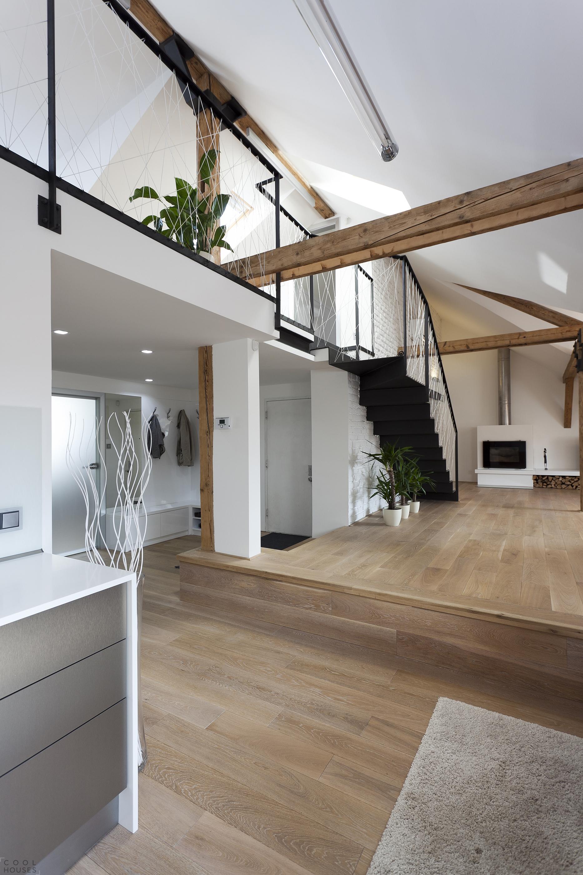 Ремонт в стиле лофт квартиры в Праге