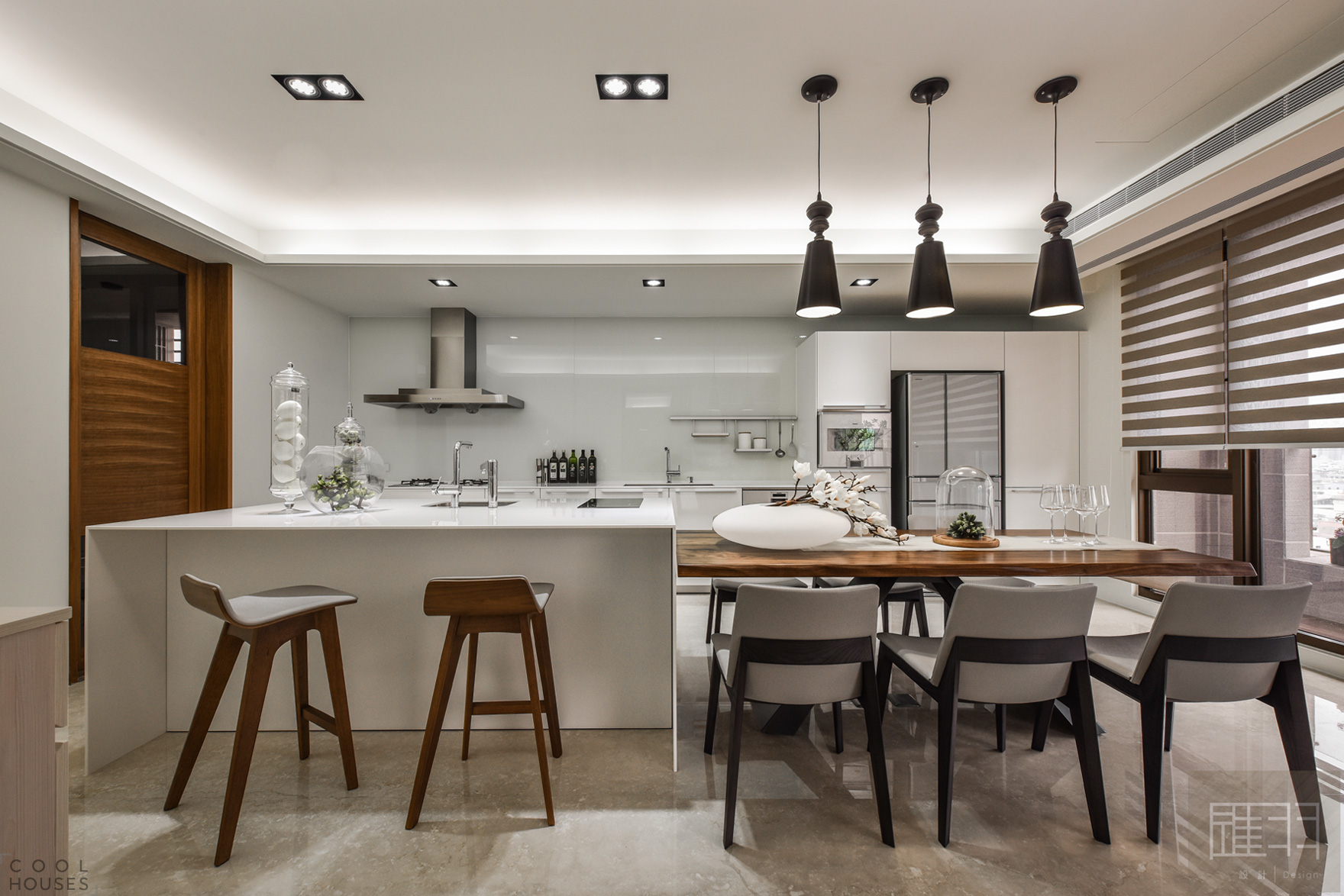 Роскошный интерьер квартиры в Тайване