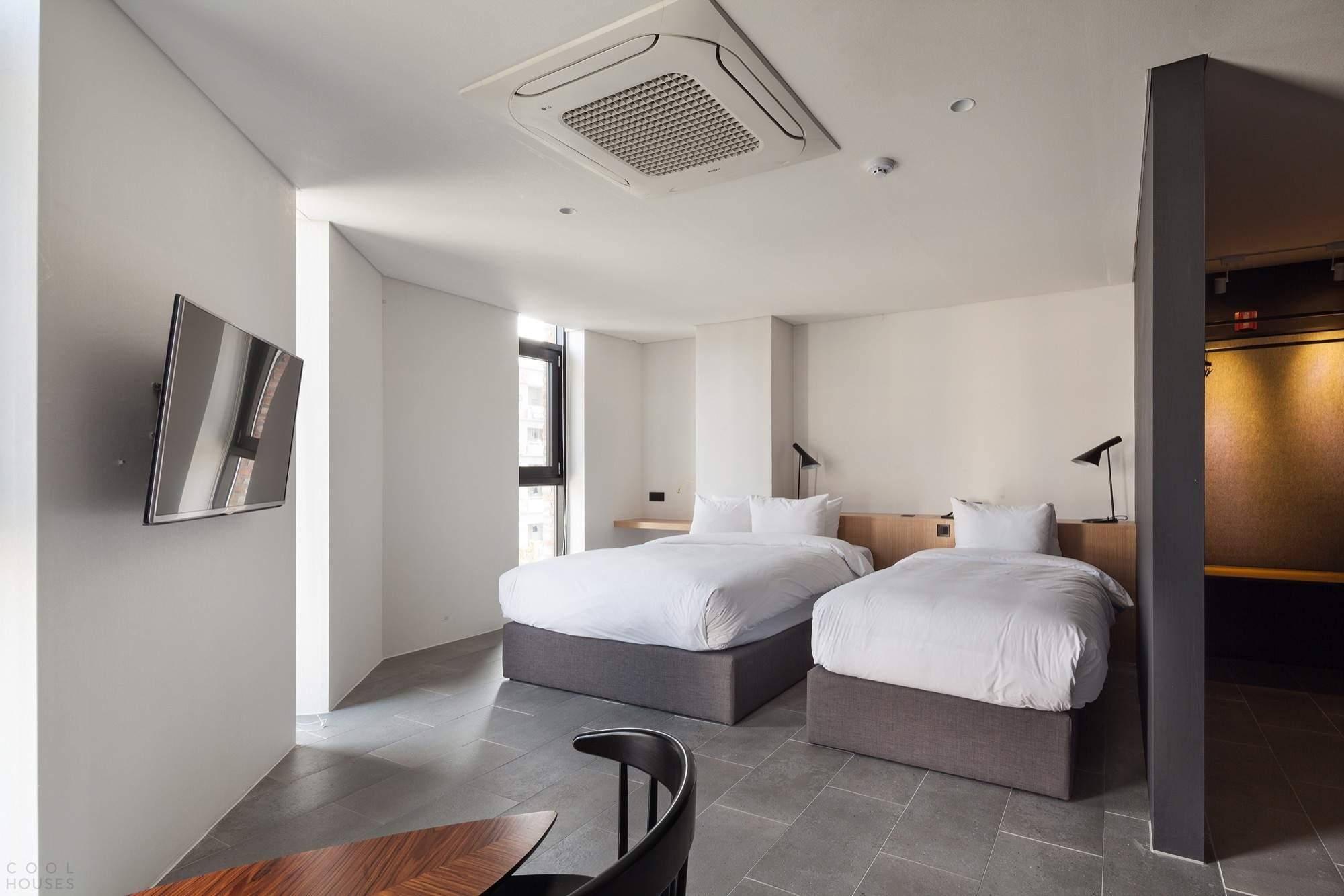 Отель с нестандартной архитектурой в Южной Корее