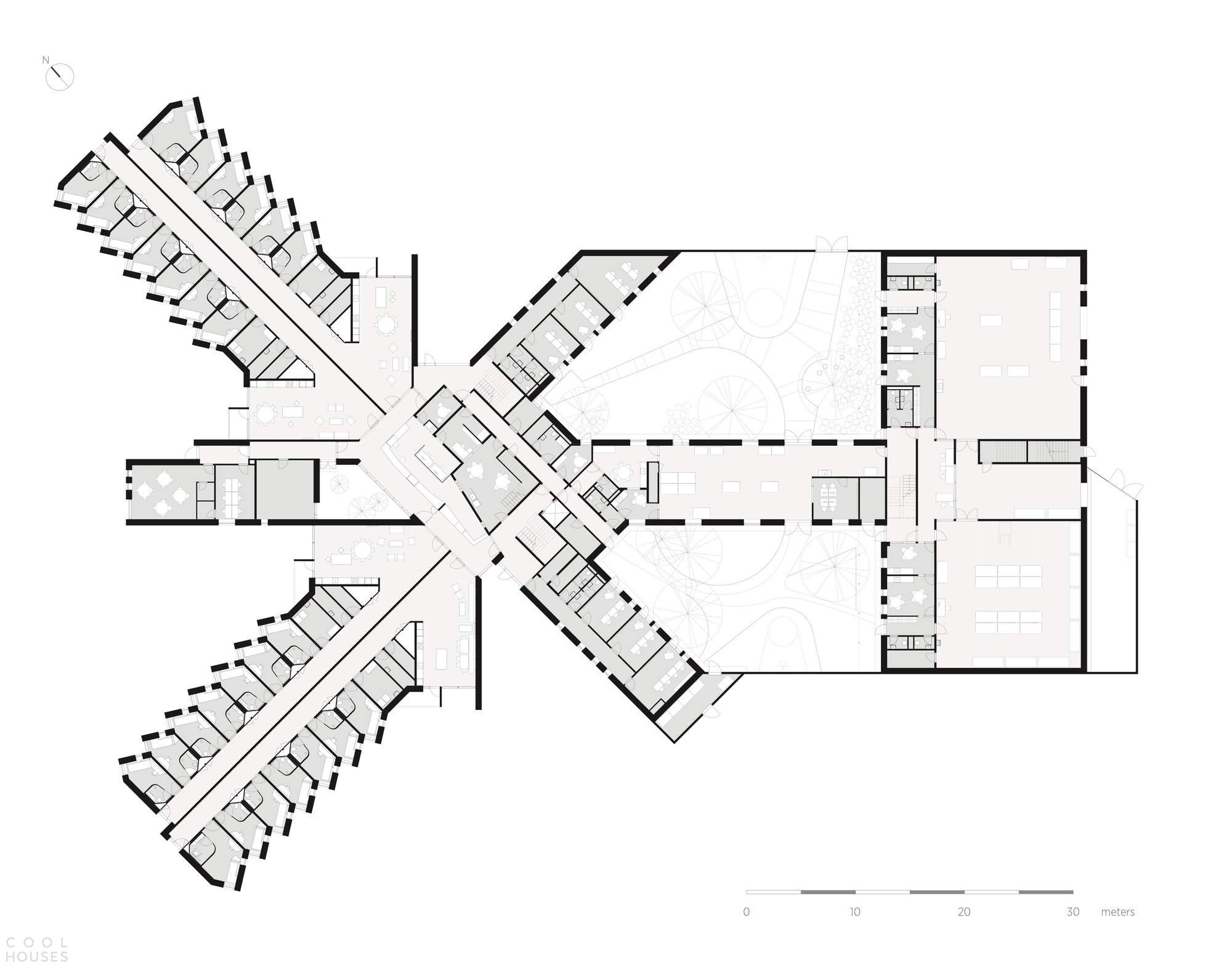 Суперсовременный тюремный комплекс Сторстрём в Дании