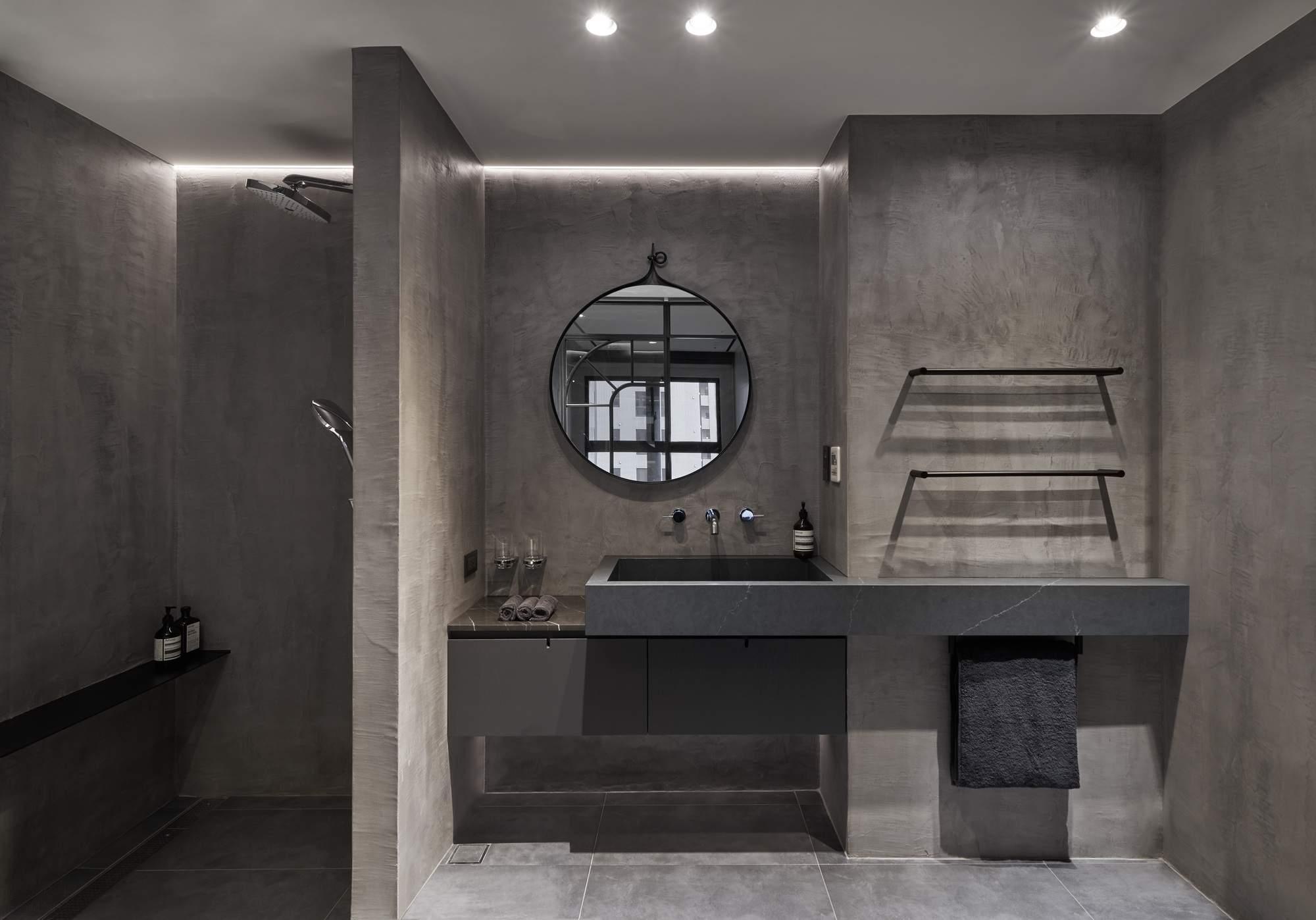 Квартира со скульптурным монохромным пространством, Тайвань