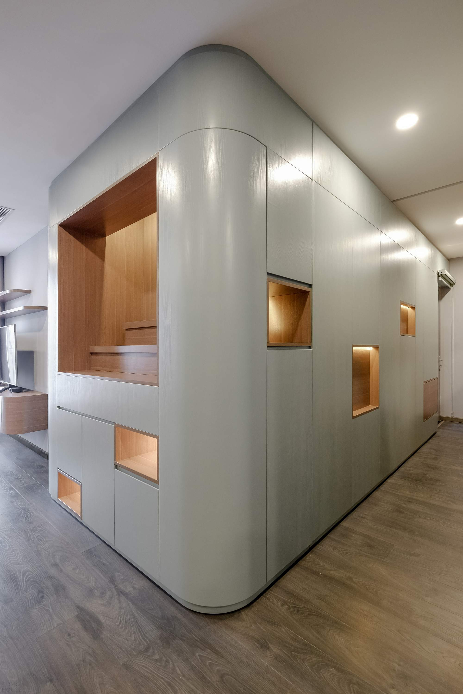 Современная квартира с гибкой интеграцией пространства в Ханое, Вьетнам
