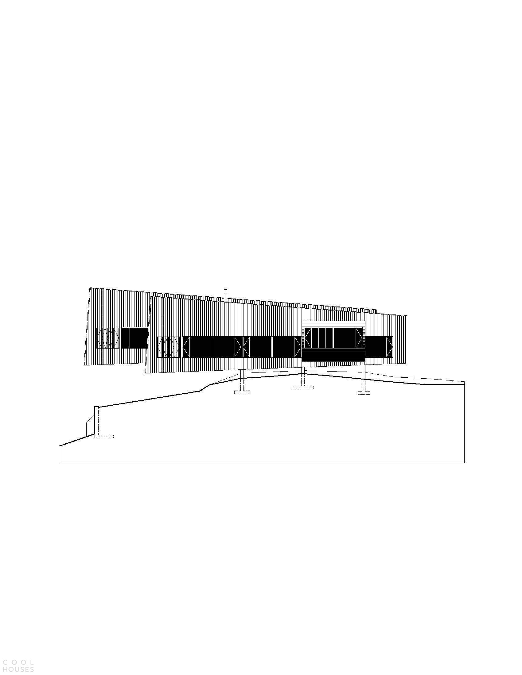 Бетонный гостевой дом с минималистической эстетикой, США