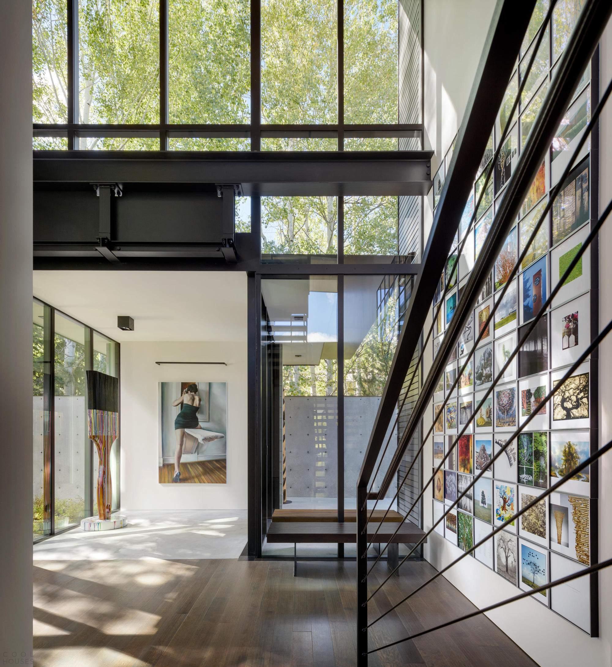 Частная резиденция-галерея в США