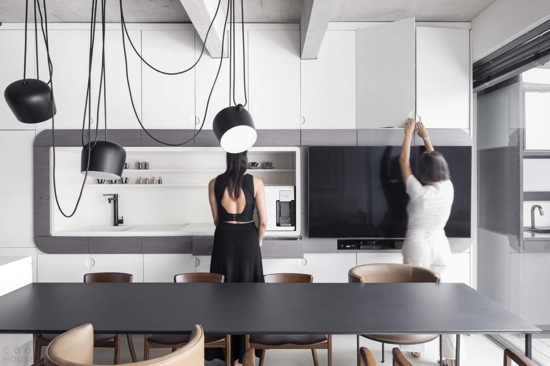 Динамичная двухуровневая квартира в Сан-Паулу, Бразилия