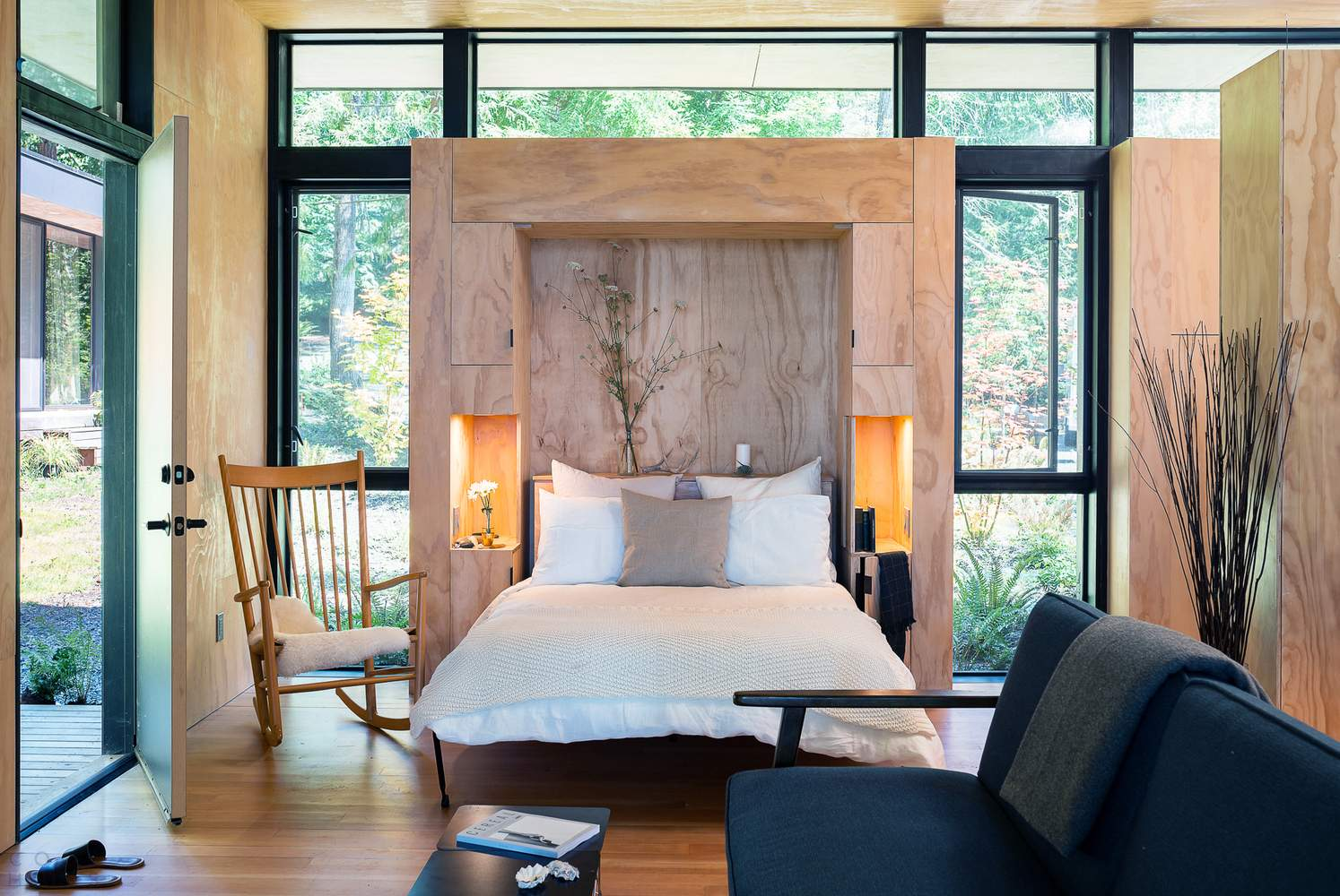 Лесные домики для семейного отдыха, США