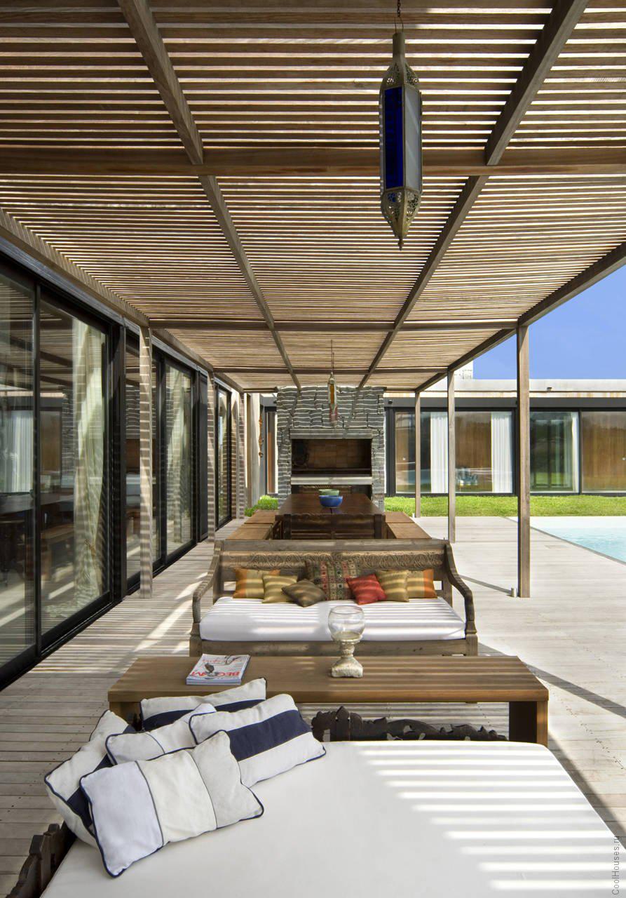 Одноэтажный дом в стиле модерн