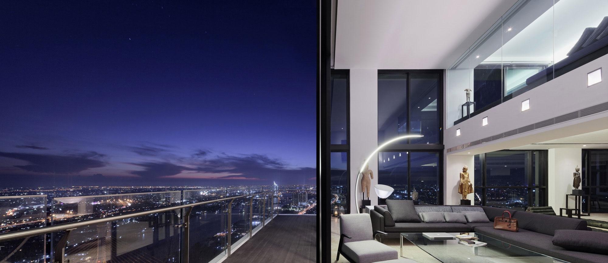 Дизайн квартиры в элитном небоскребе Бангкока