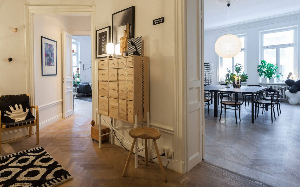 Дизайн квартиры в скандинавском стиле в Стокгольме