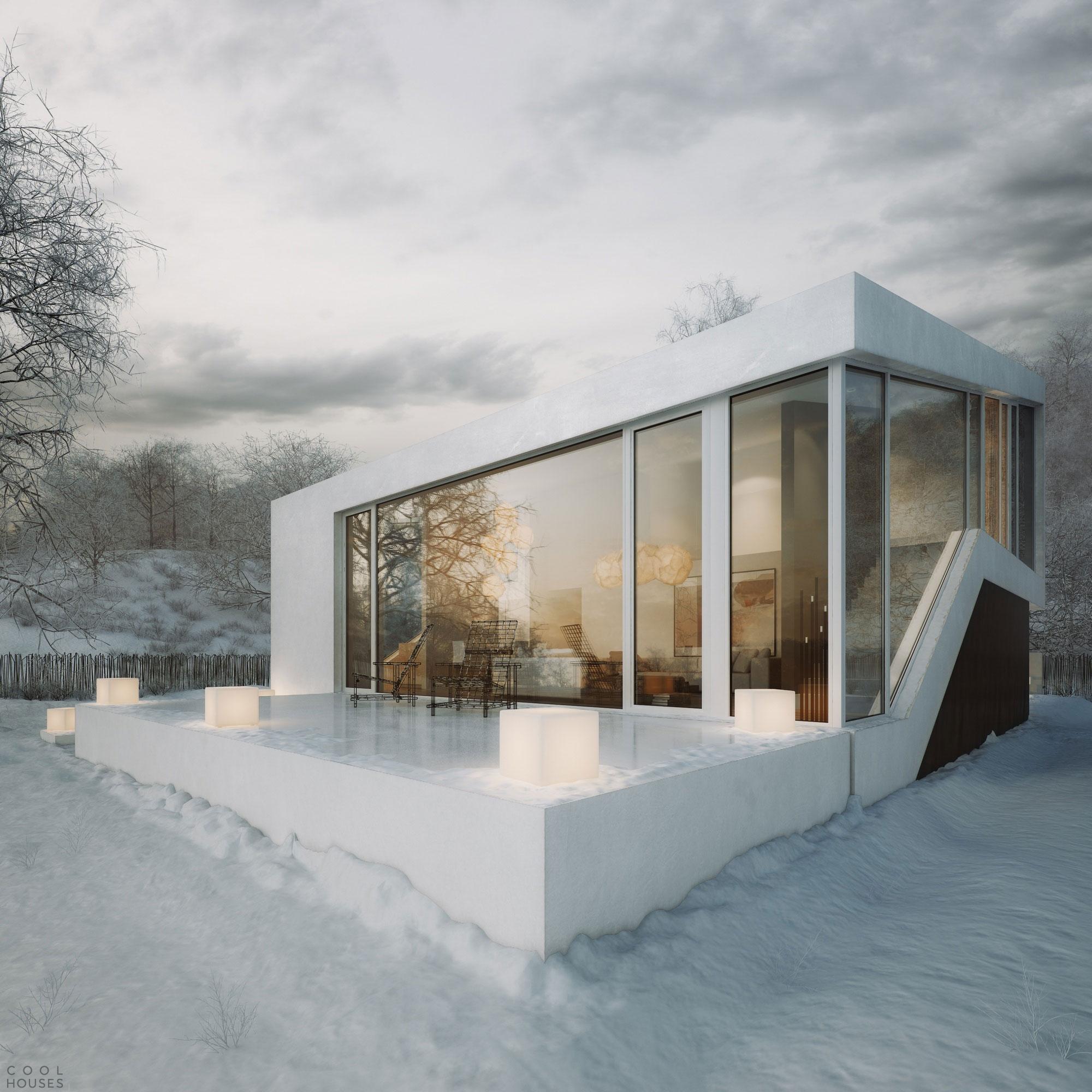 Проект двухэтажного дома, созданный дизайнером Michal Nowak