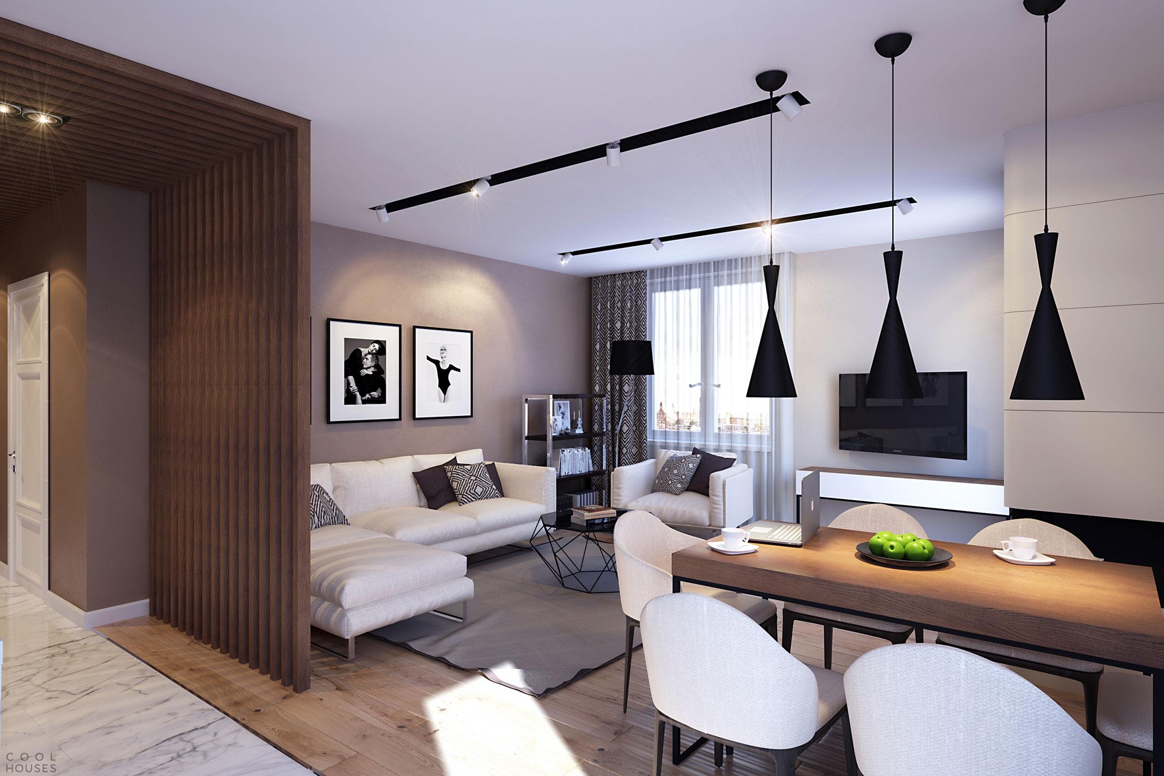 Проект небольшой квартиры в Санкт-Петербурге от студии GEOMETRIUM