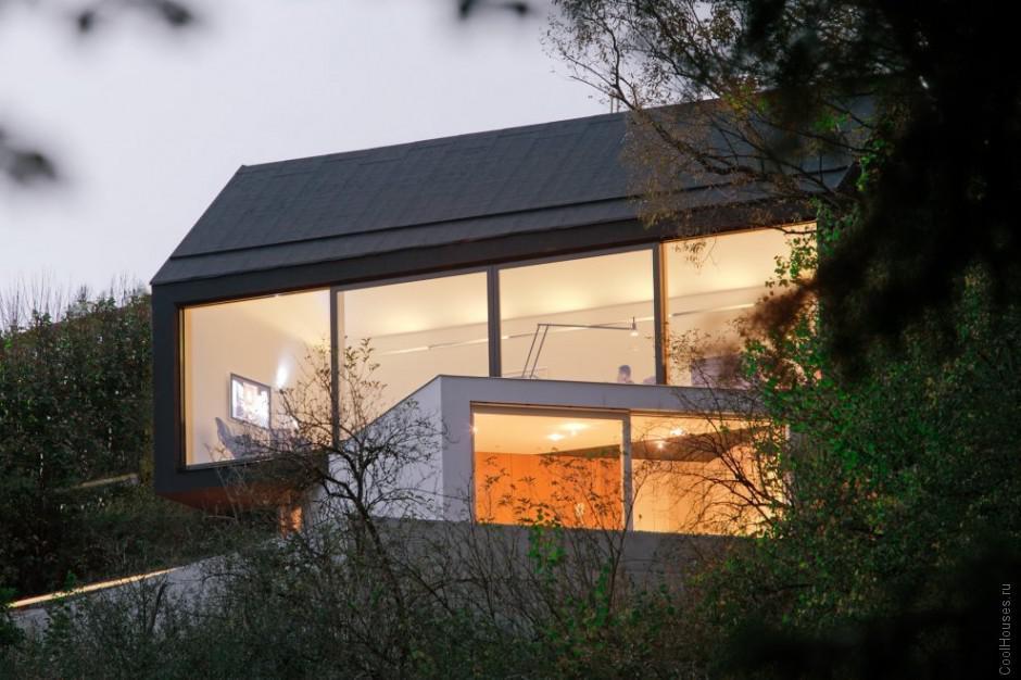 Современная пристройка к дому в Германии