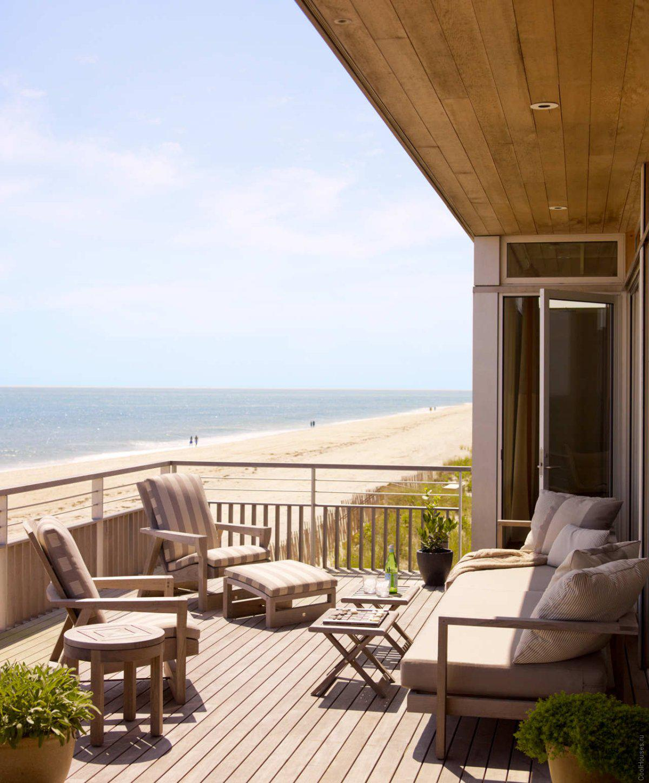 Дом на берегу океана в Нью-Йорке