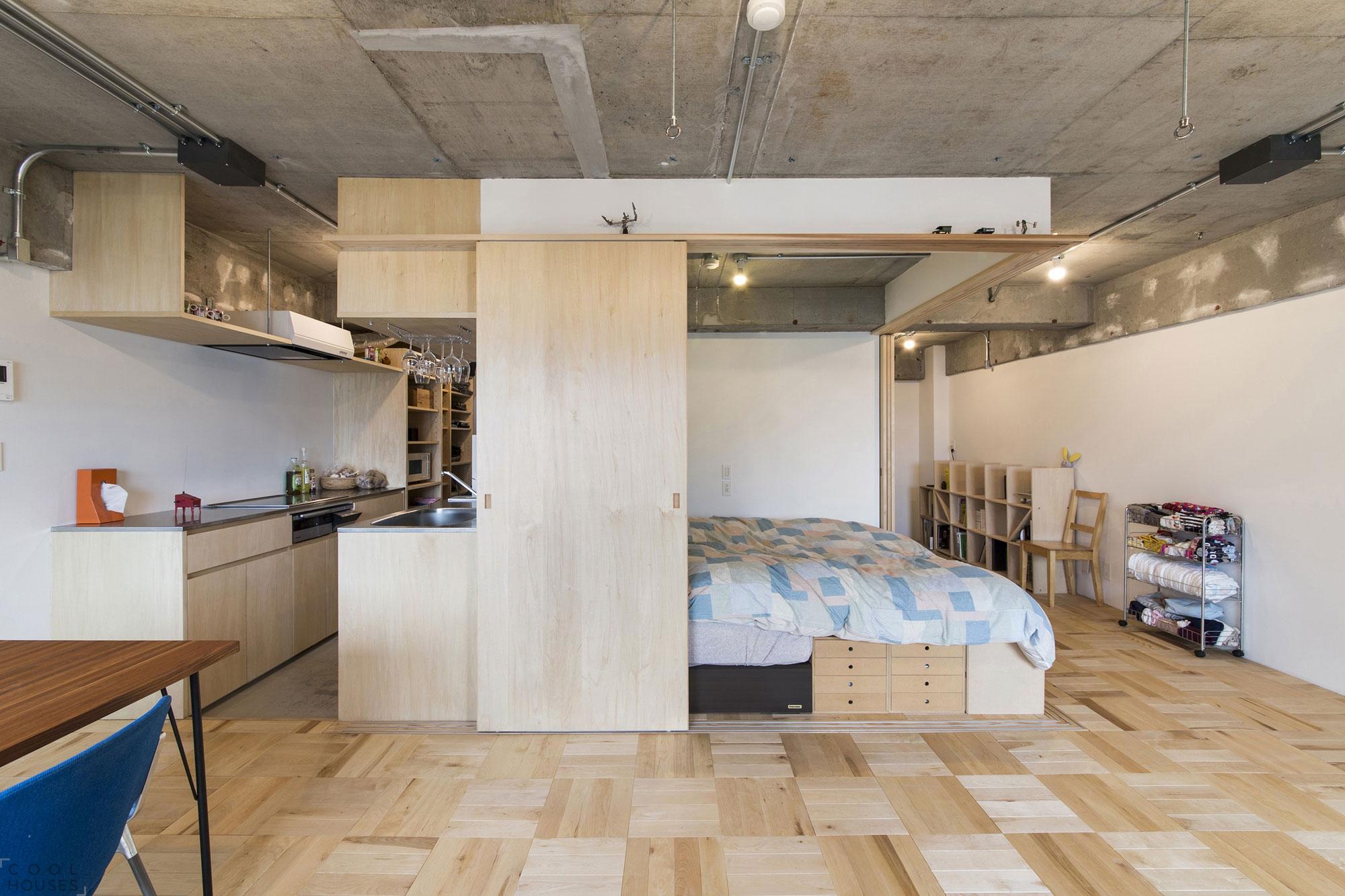 Оригинальные решения в интерьере квартиры в Токио