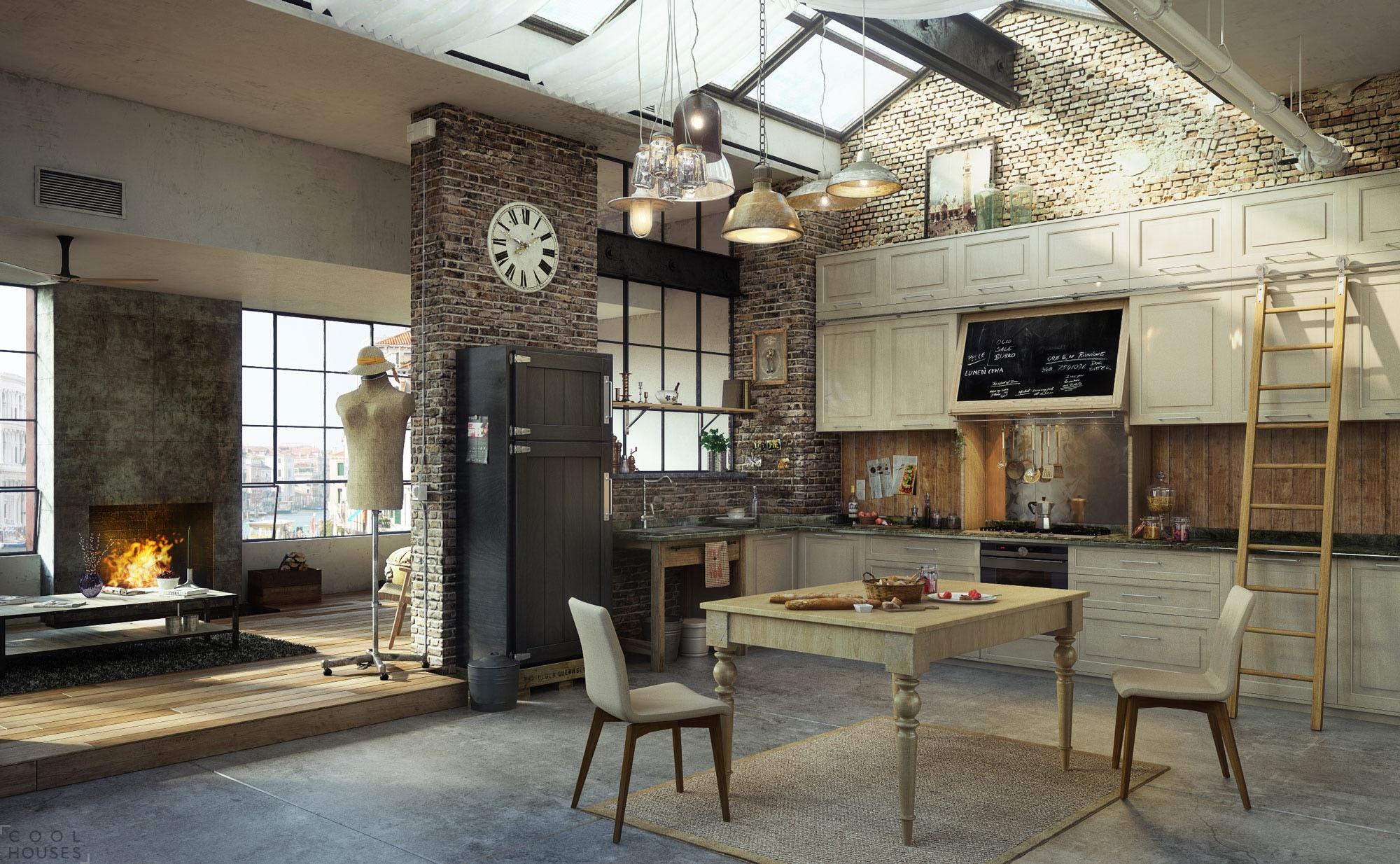 Проект дизайна квартиры, созданный в 3Ds max