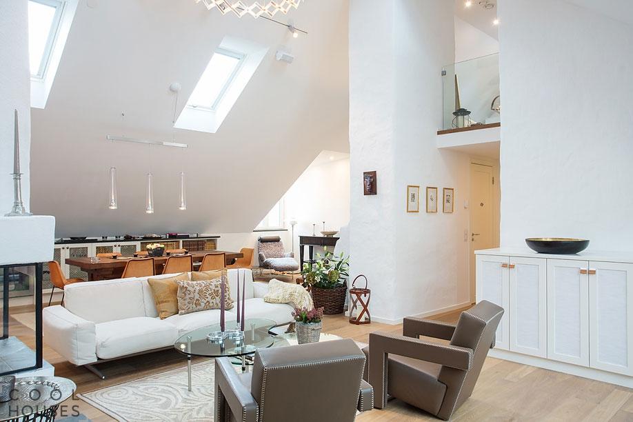 Большая и красивая квартира в Стокгольме
