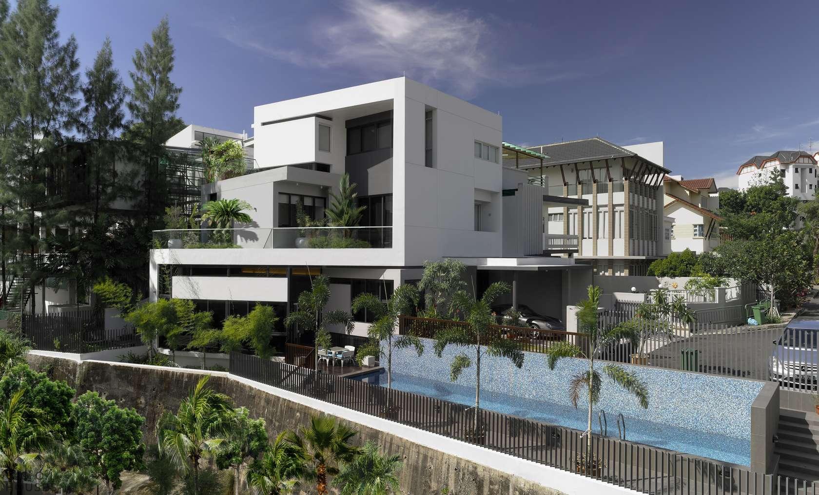 Соврменная Хай-Тек резиденция в Сингапуре