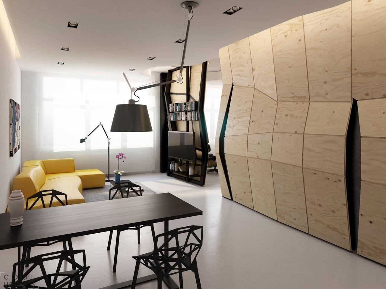 Трансформирующаяся квартира - проект Влада Мишина