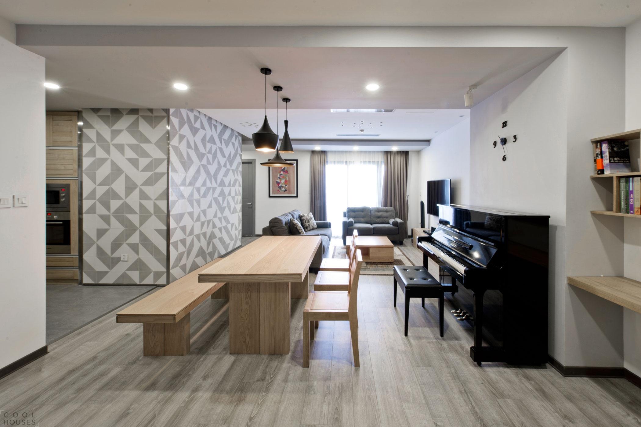 Квартира-студия с легким элегантным интерьером в центре Ханоя, Вьетнам