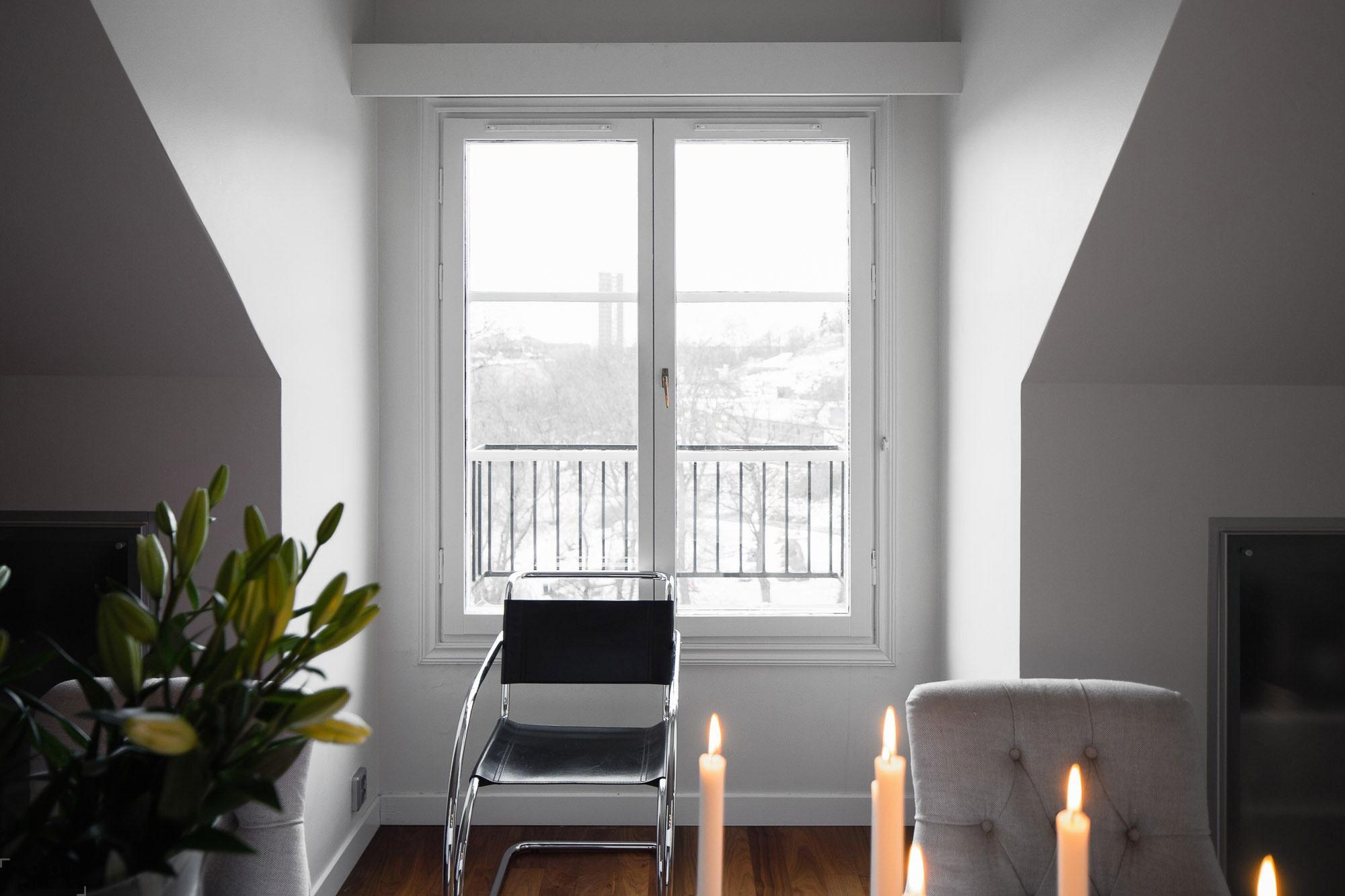 Стильная квартира с приятным легким интерьером в Стокгольме