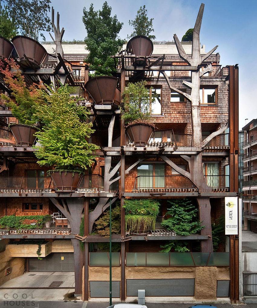 Удивительный «живой» дом в Турине, Италия