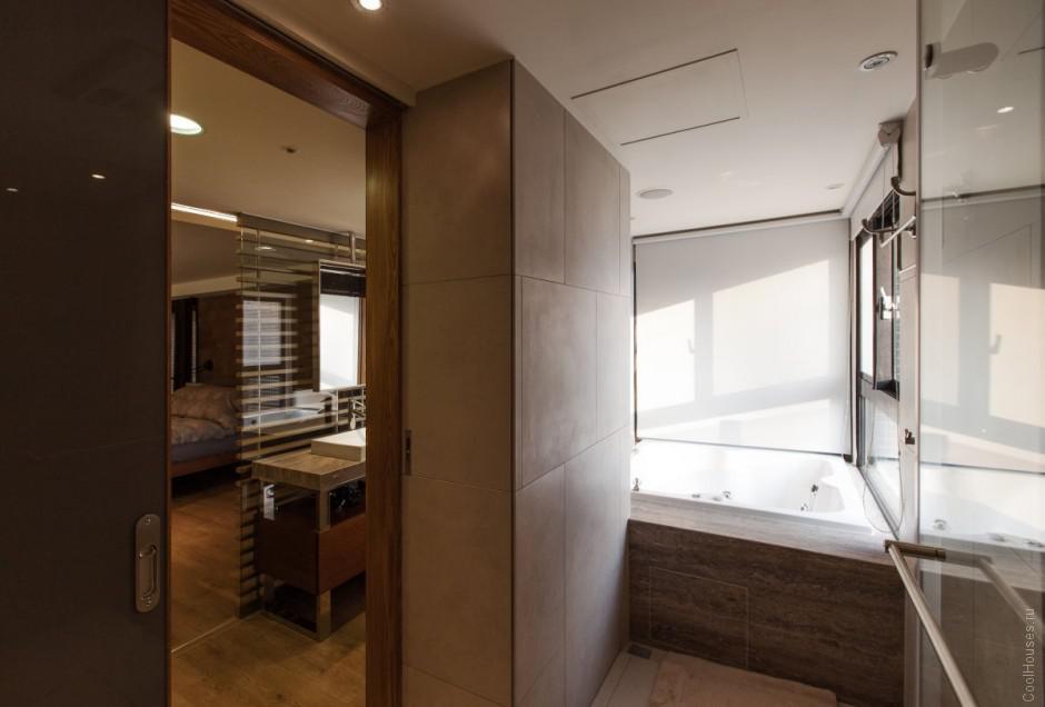 Cовременный дизайн интерьера Пентхауса в Тайване