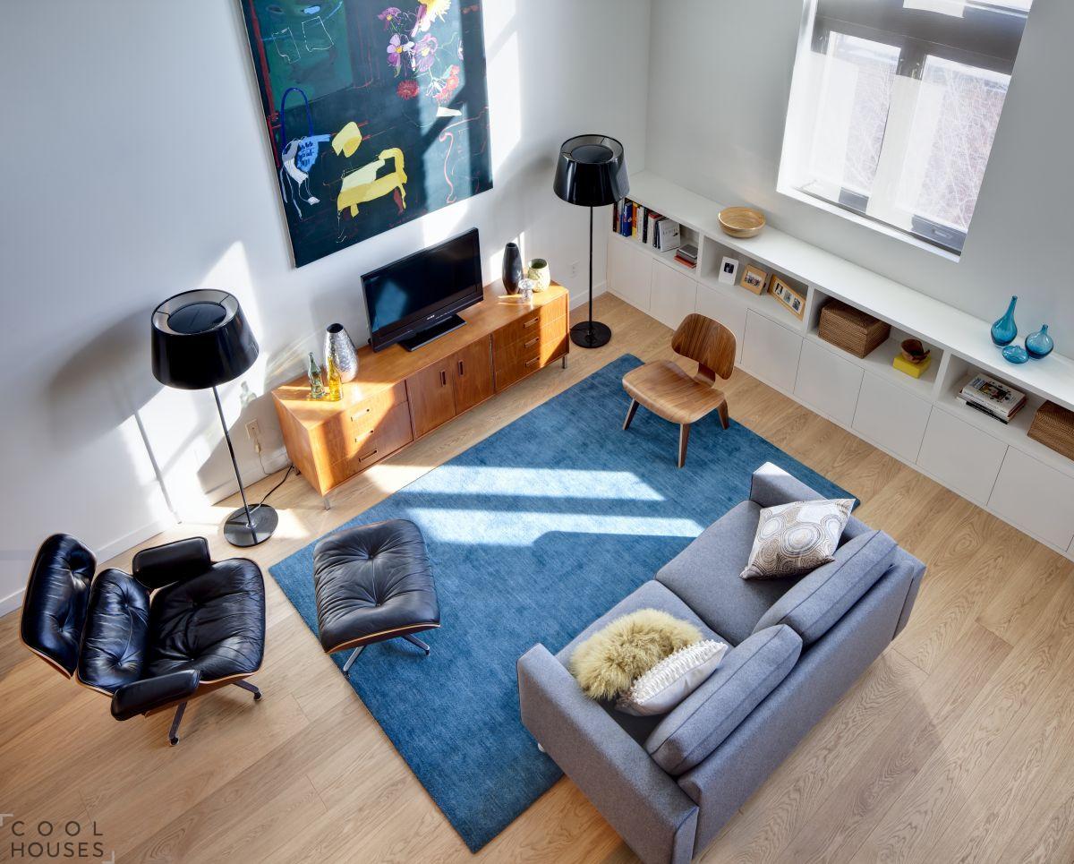 Дизайн малогабаритной квартиры в стиле лофт, Канада