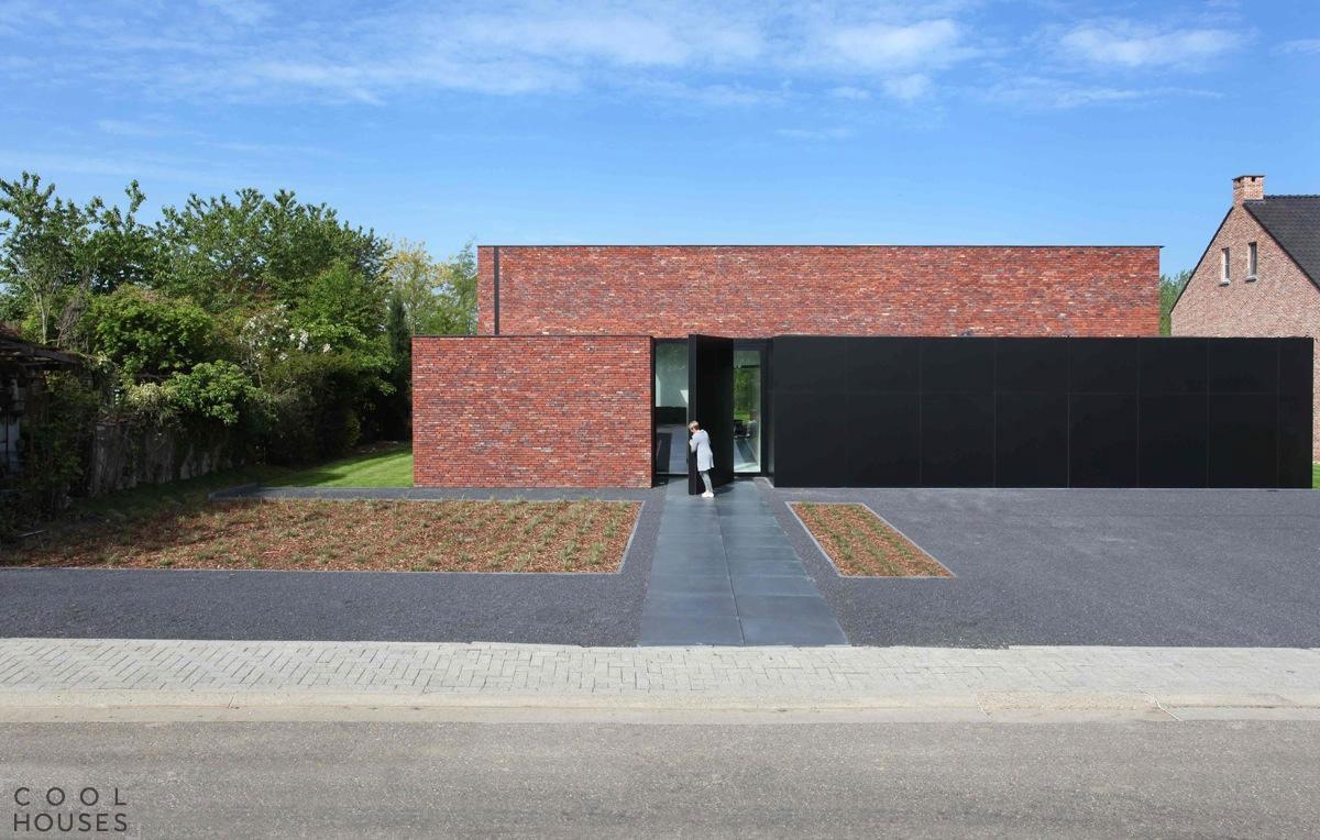 Кирпичный дом в стиле модерн, Бельгия