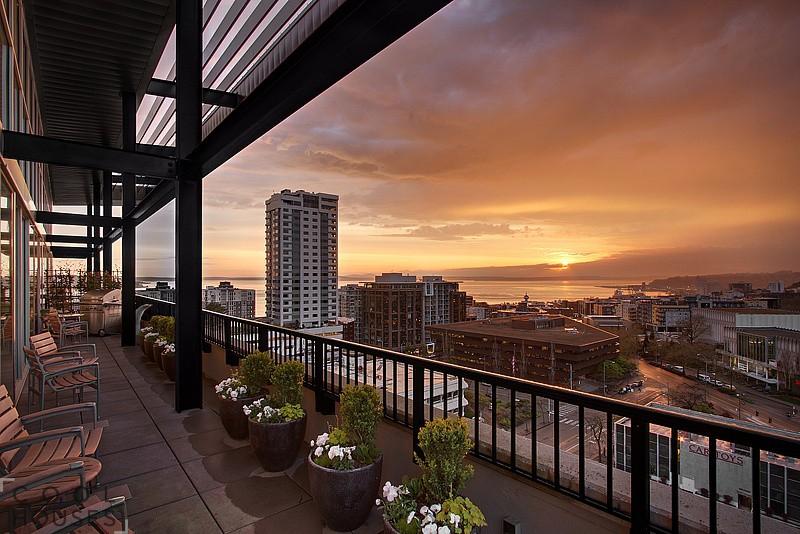Красивый пентахус в стиле лофт, Сиэтл, США