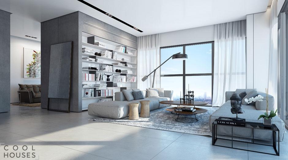 Проект современной квартиры в Тель-Авиве от Ando Studio