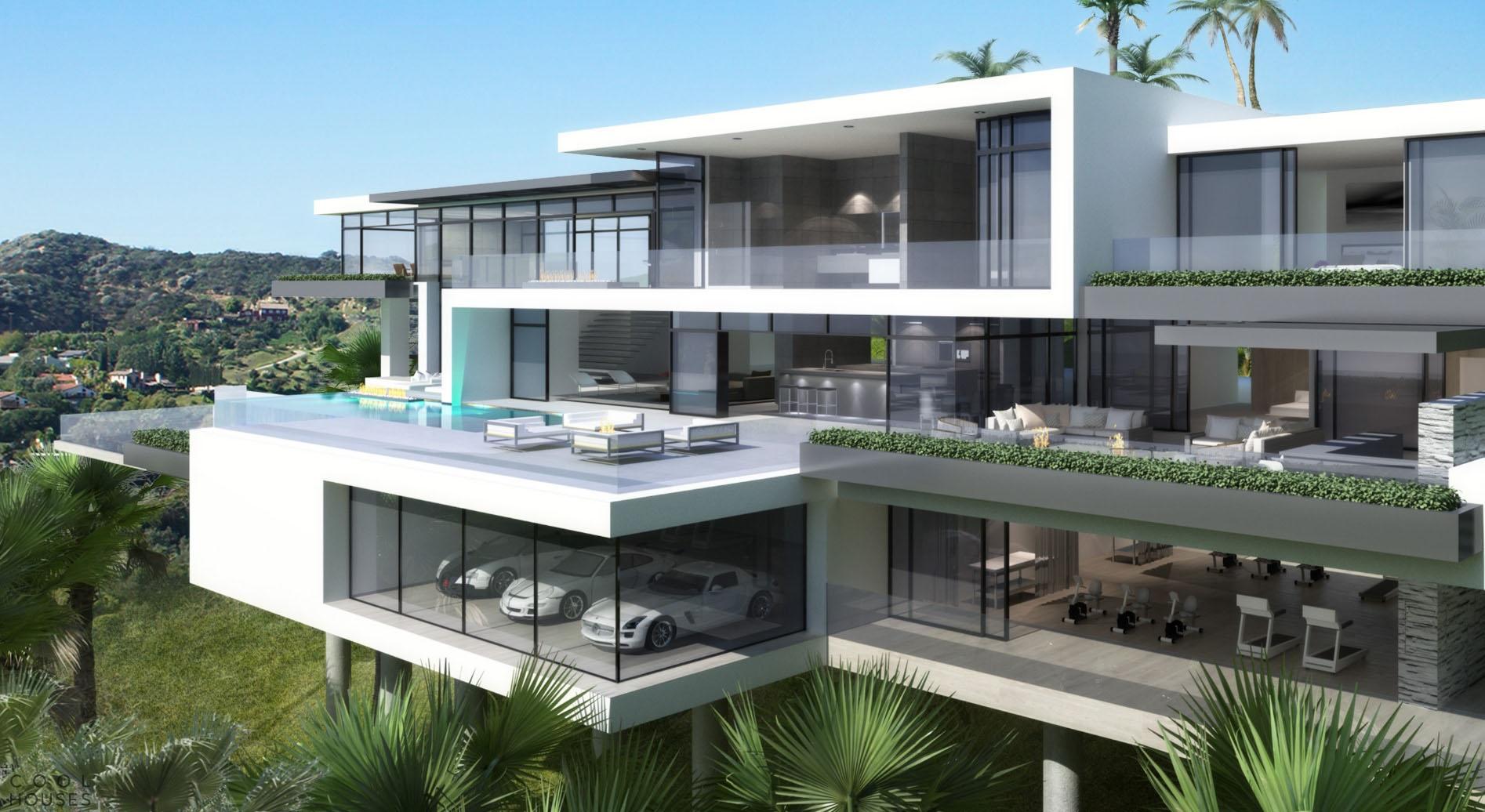 Проекты двух современных дома в Лос-Анджелесе