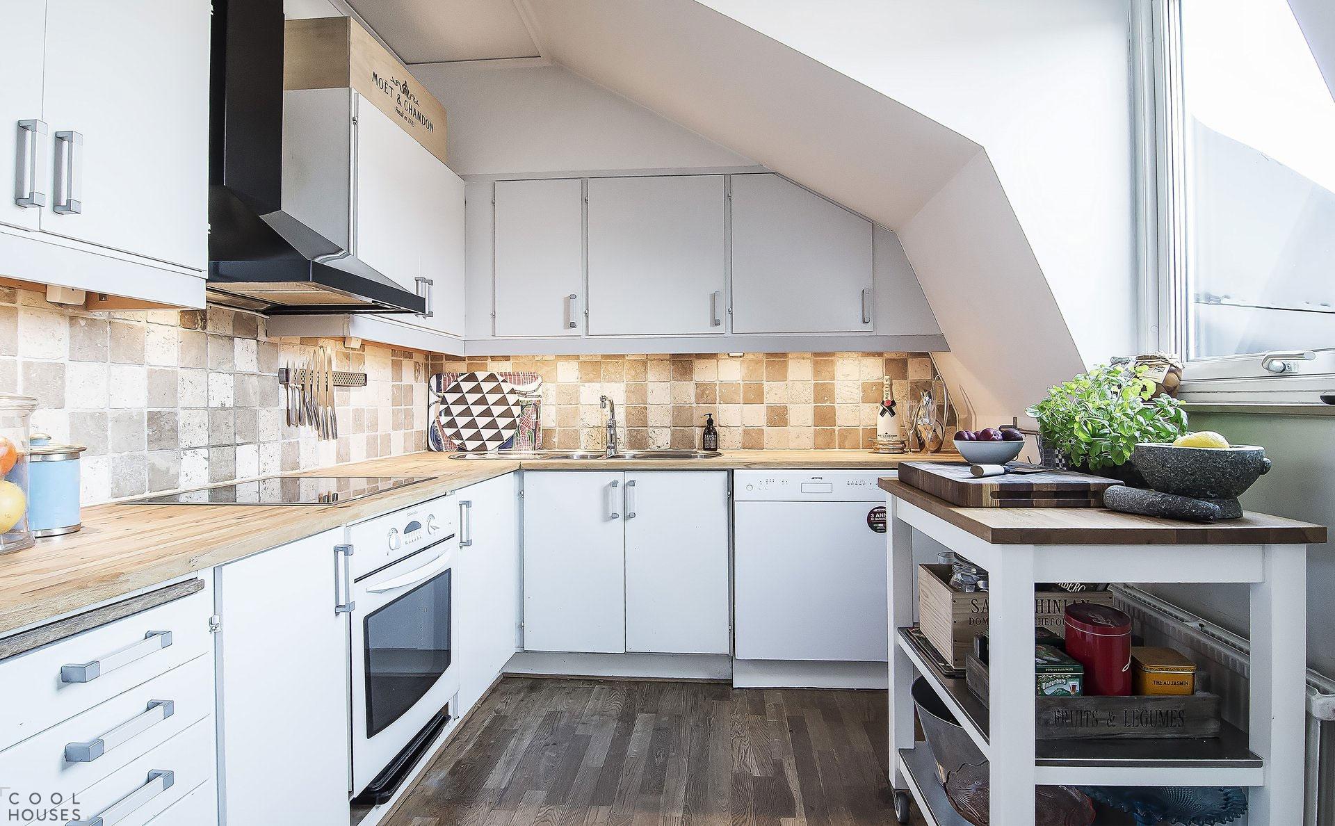 Современная квартира в скандинавском стиле, Швеция