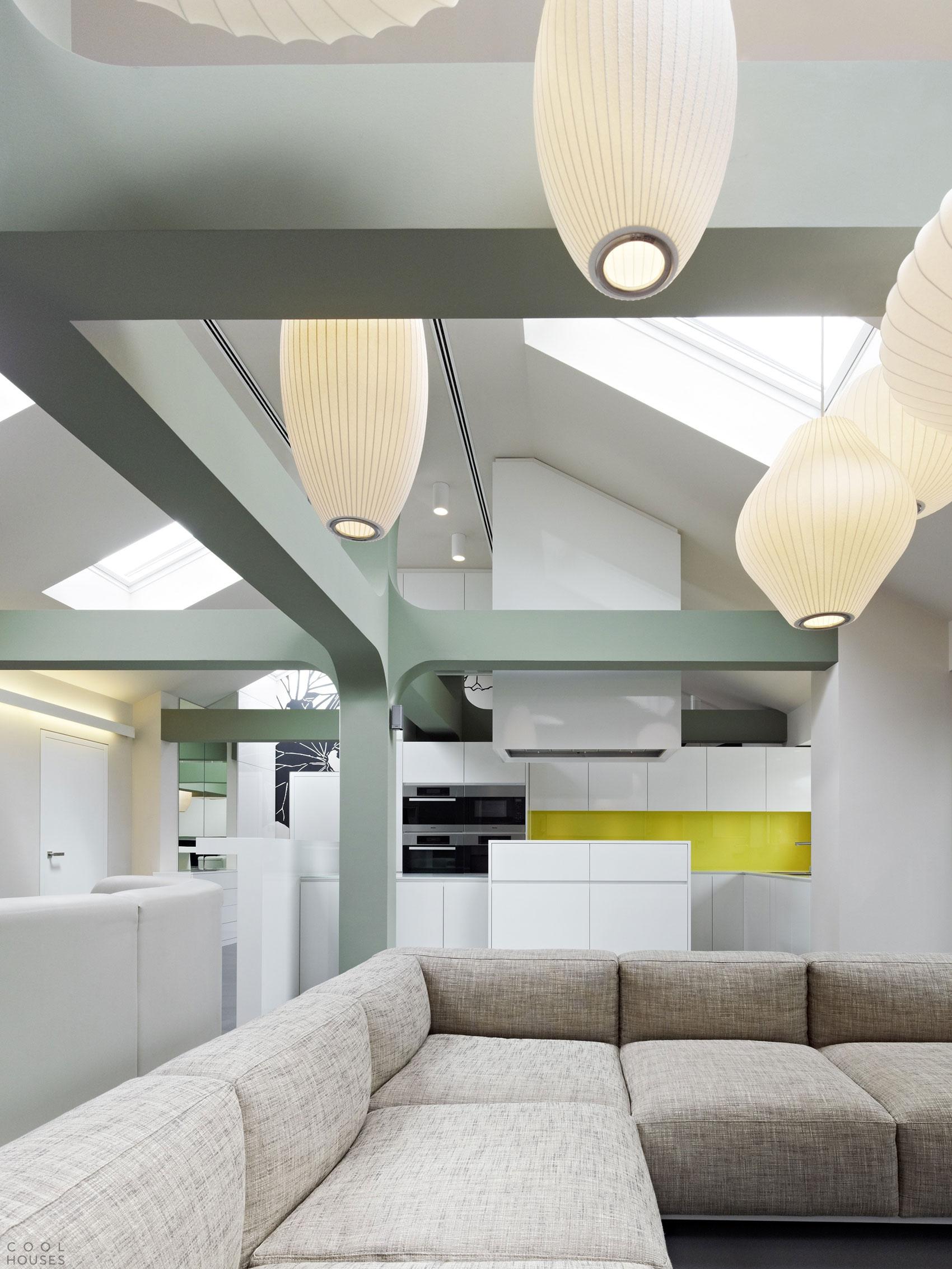 Современный интерьер квартиры в стиле минимализм, Германия